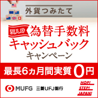 三菱UFJ銀行 外貨つみたて申込