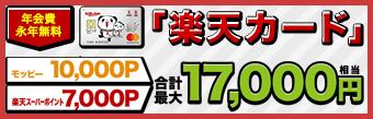 楽天カード【最大17,000円相当】