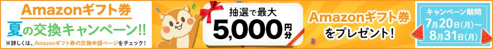 Amazonギフト券 夏の交換キャンペーン!!
