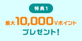 特典1 最大10,000Vポイントプレゼント!