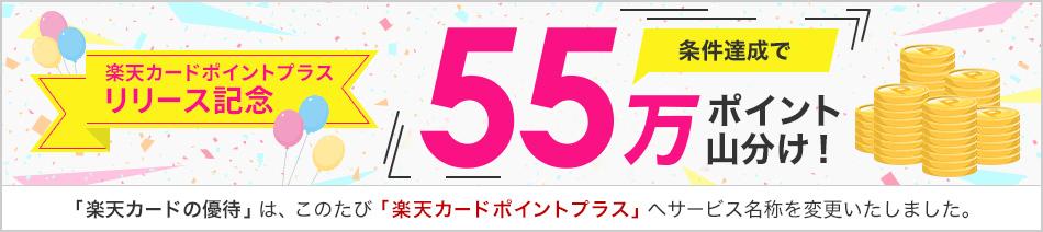 楽天カードポイントプラスリリース記念 条件達成で楽天ポイント55万ポイント山分け!